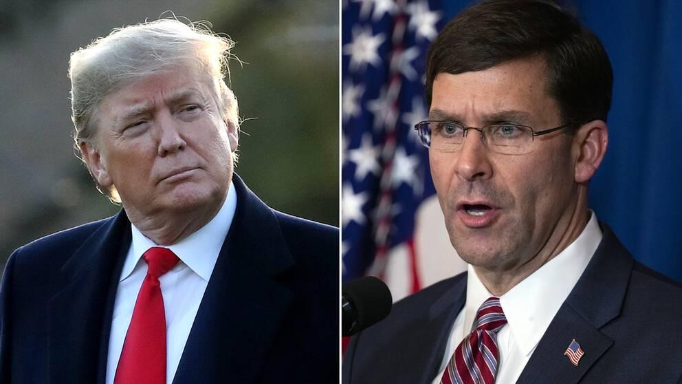 Försvarsminister Mark Esper har inte sett de bevis som president Donald Trump menar finns för att den iranske toppgeneralen Qassem Soleimani planerade ambassadattacker.