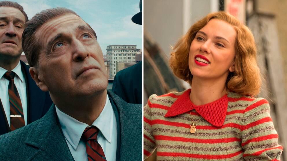 Al Pacino och Scarlett Johansson har båda chansen att ta hem bästa biroll, för The Irishman och Jojo Rabbit.