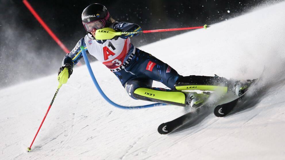 Anna Swenn Larsson i österrikiska Flachau.