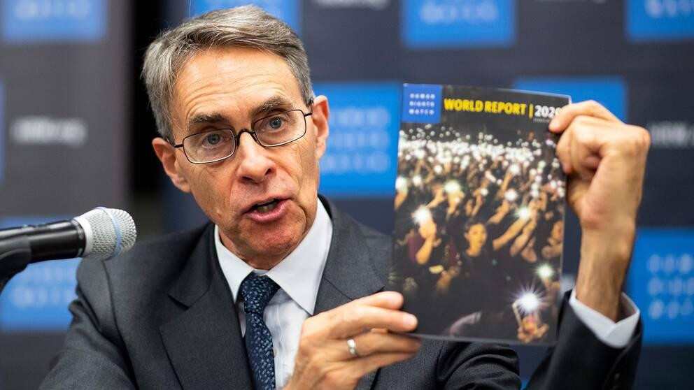 Kenneth Roth, chef för människorättsorganisationen Human Rights Watch, anklagar Kina för att motarbeta mänskliga rättigheter i världen.