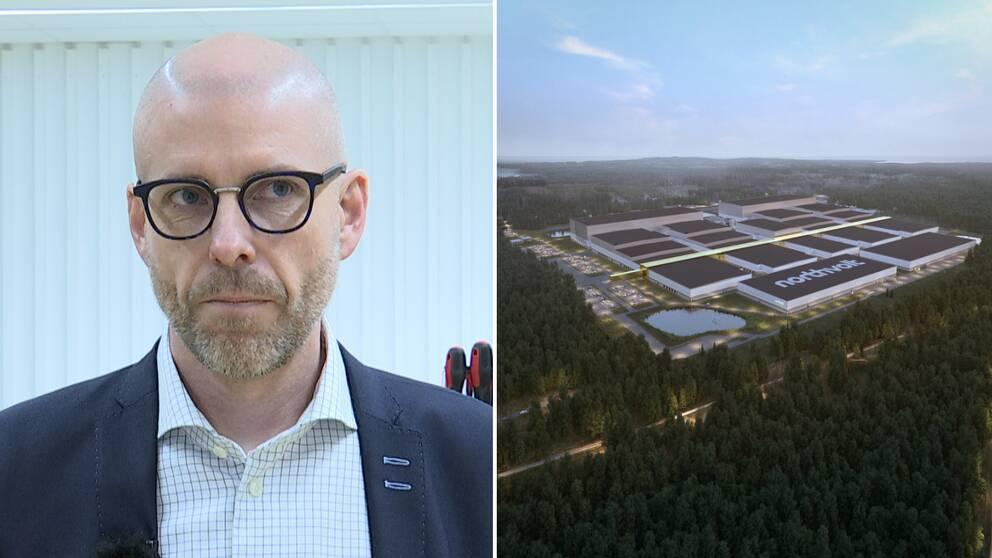 Teknikföretagens chef region norr Kent Berglund, Grafik Northvolt.