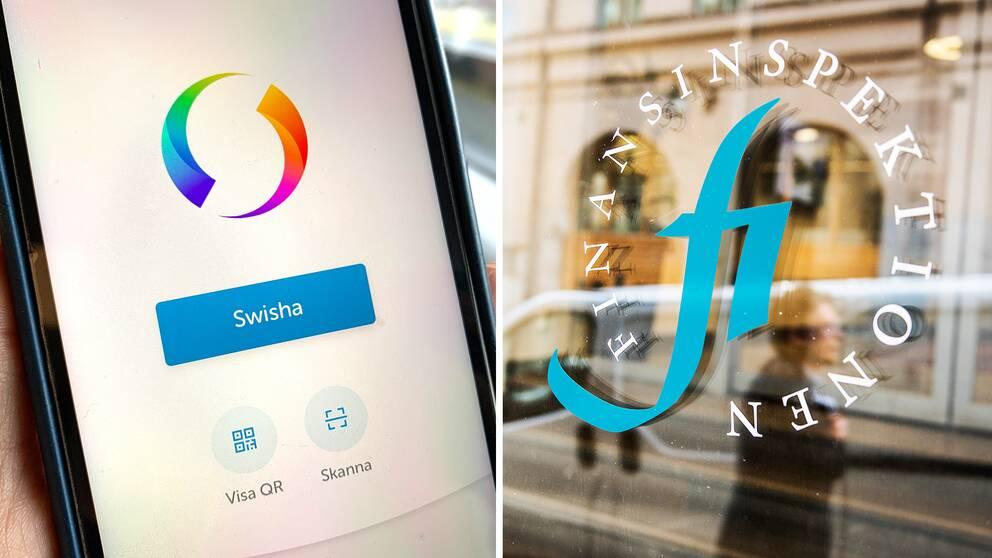 Swish appen och logga på finansinspektionen.