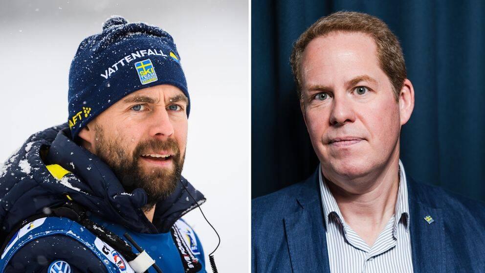 Enligt källor till SVT Spot riktas hård kritik mot Ola Strömberg (till höger) inom förbundet för hur rekryteringen av ny längdchef gått till. Rikard Grips (till vänster) namn dök upp under processen.