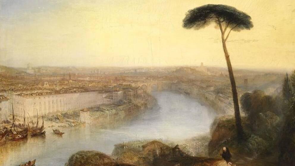 """Målningen """"Rome – from mount aventine"""" klubbades för 30,3 miljoner pund på Sothebys auktionshus i London igår."""