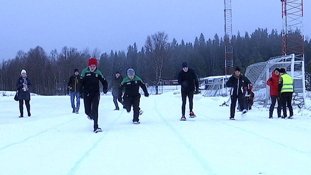Löpare med snöskor