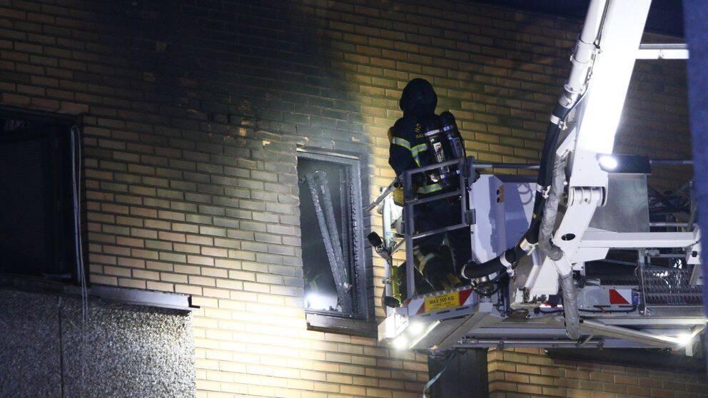 Brand i flerfamiljshus i Nässjö
