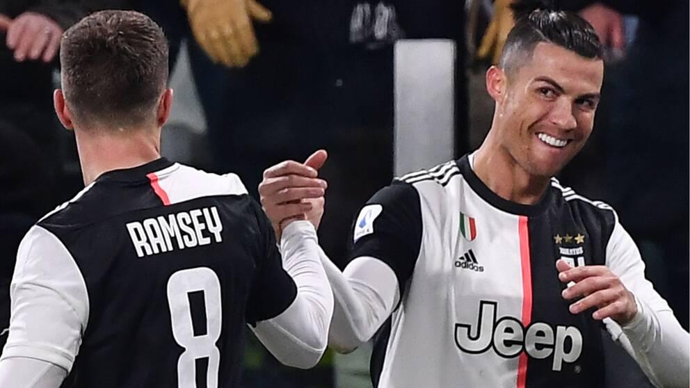 Cristiano Ronaldo fick jubla två gånger för Juventus.