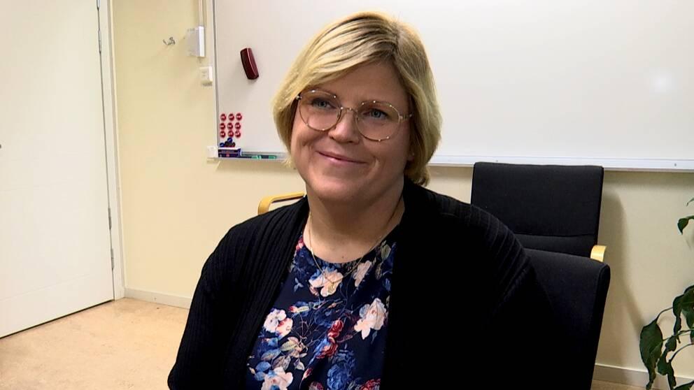 Malin Andersson, ordförande kommunals vård- och omsorgsklubb Skellefteå.