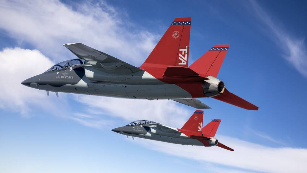 skolflygplanet T-7A Red Hawk boeing saab