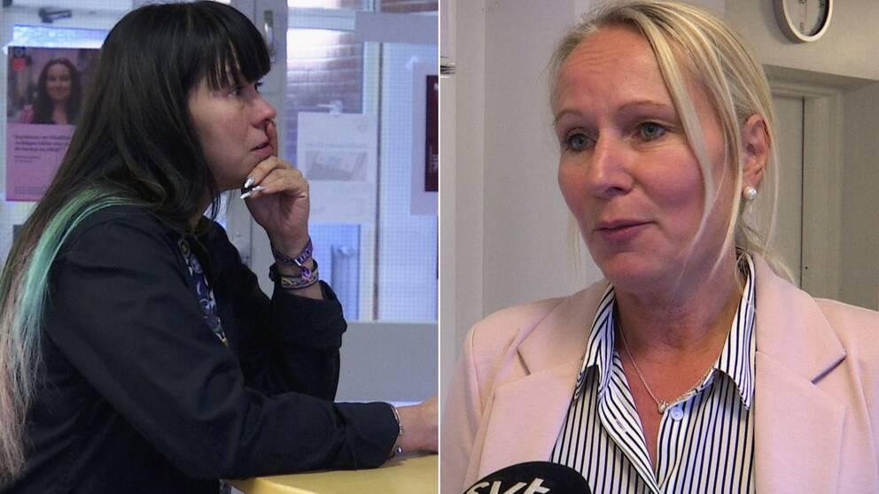 Cecilia Jakobsson vårdförbundet, Carina Bäckman, verksamhetschef, hjärtmottagningen