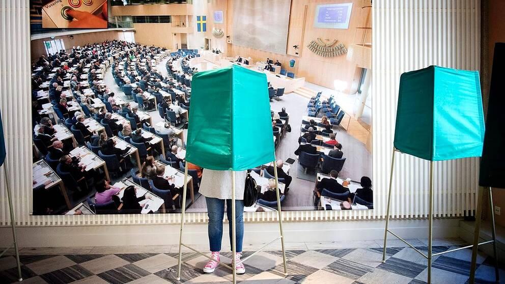 66 procent av de tillfrågade svarade att de kommer att rösta på samma parti.