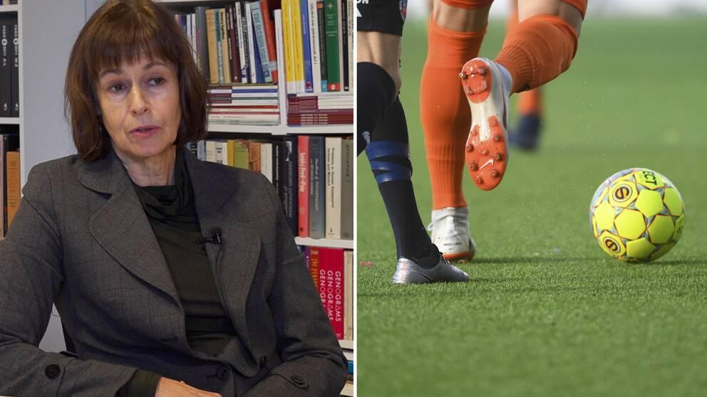 Forskaren Maria Vinberg som är doktorand vid Karolinska Institutet säger till SVT att det råder kraftig överrepresentation av elitspelare bland spelmissbrukarna. Bilden på matchen är en arkivbild och är inte knuten till ämnet.