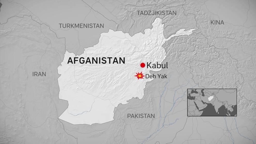 Karta över Afghanistan
