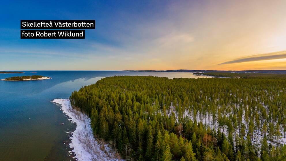 Söndagssoligt Skellefteå Västerbotten. Efter mycket gråväder och omväxlande plus och minusgrader, fick vi äntligen en strålande dag!