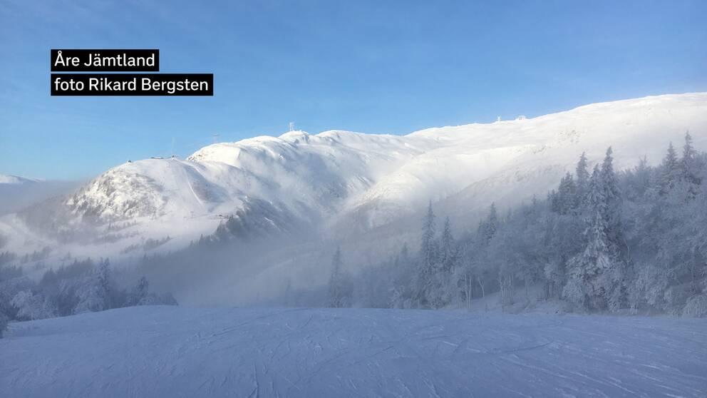 Åreskutan Jämtland i sol och snö 28/1, 2020.