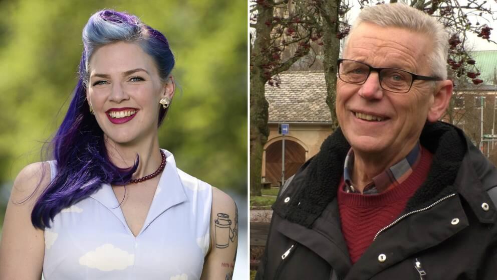 Emilia Astrenius Widerström, ordförande i LRF Ungdomen, och Carl-Henrik Ohlsson, vd för Skaraborg Invest.