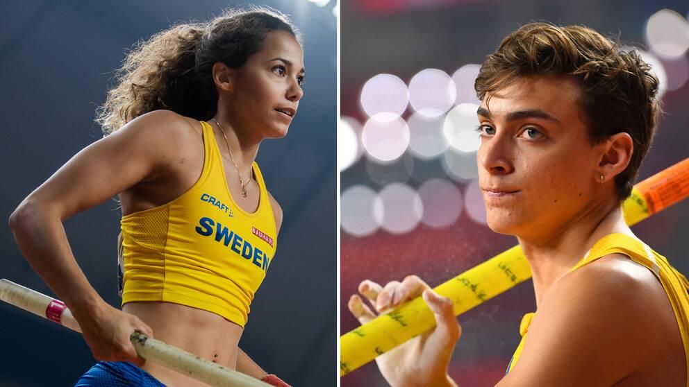 Angelica Bengtsson och Armand Duplantis.