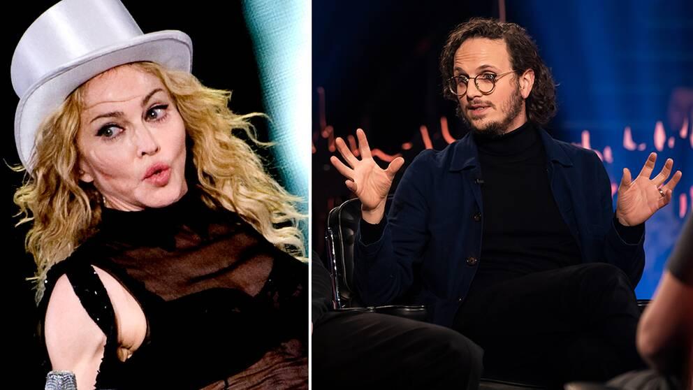 Till vänster: Madonna på Ullevi. Till höger: Salem al Fakir i SVT:s Skavlan.