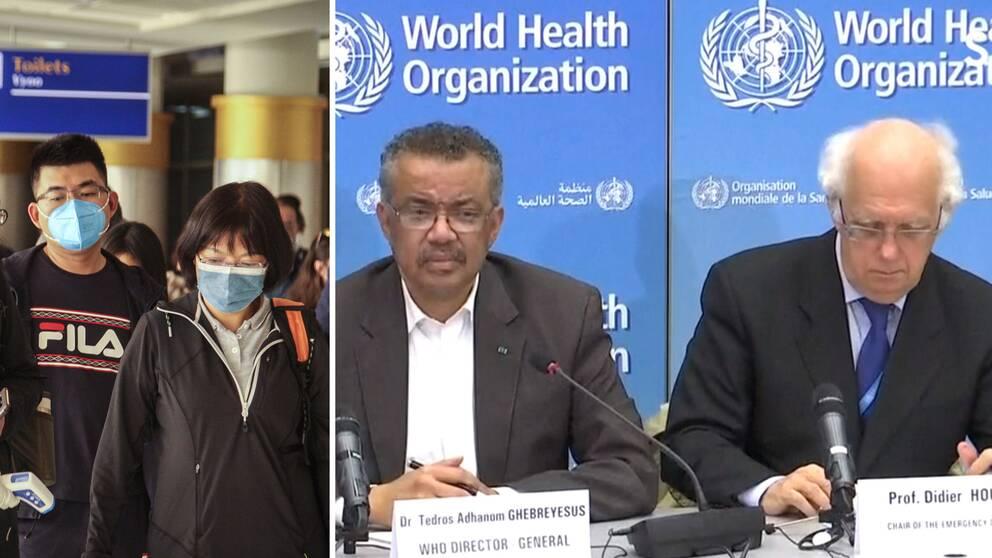 WHO håller pressträff om situationen kring coronavirusutbrottet i Kina – och utlyser globalt nödläge.