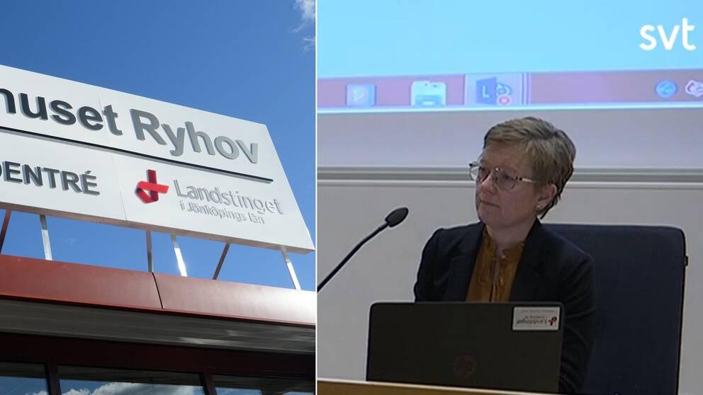 Region Jönköping håller presskonferens om det bekräftade coronafallet i Sverige