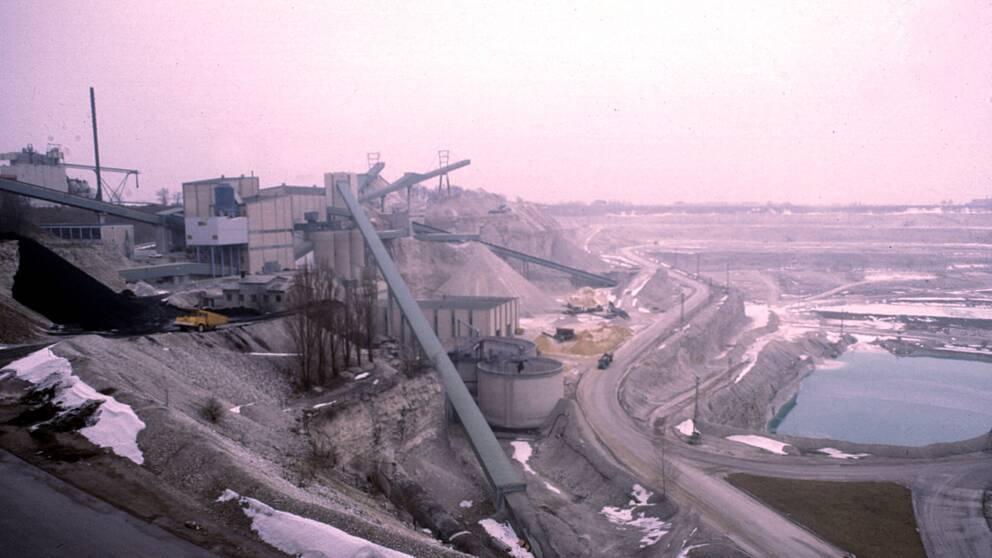 Cementas kalkbrott på Limhamn i Malmö 1980.