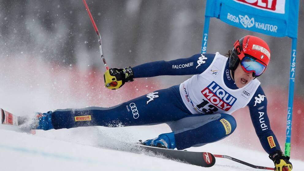 Federica Brignone tog hem världscuptävlingen i Rosa Chutor.