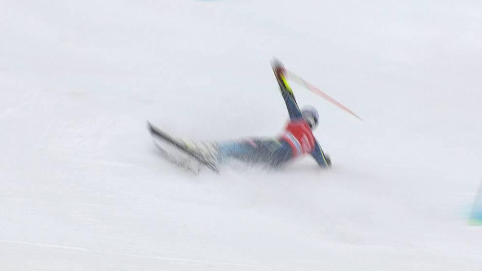 Matts Olsson körde ur i Garmisch-Partenkirchen.
