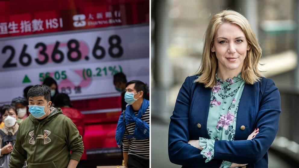 Sparekonomen Frida Bratt manar svenska sparare att hålla huvudet kallt under börsoron i Asien.