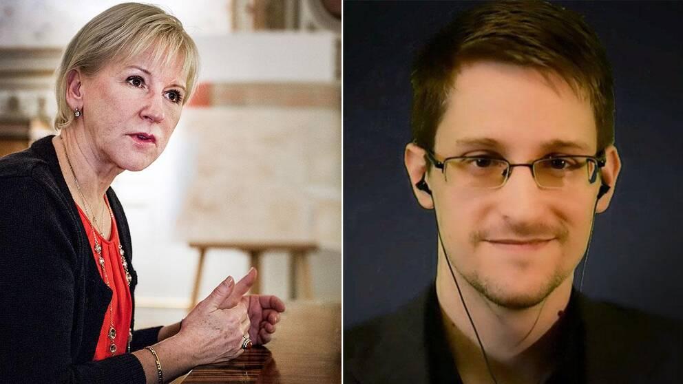Utrikesminister Margot Wallström om Edward Snowden: Han har initierat en viktig debatt.