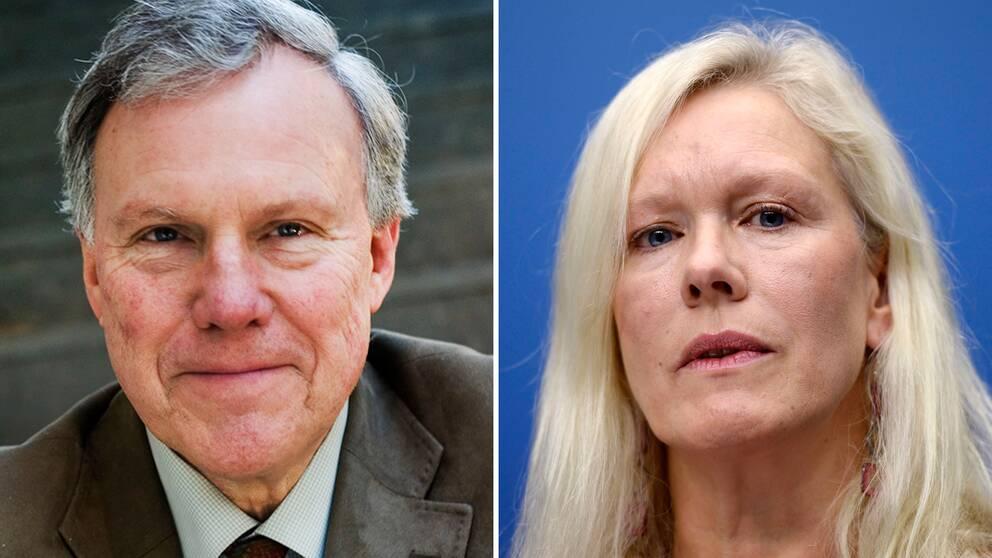 Juridikprofessor Ove Bring och den tidigare kinaambassadören Anna Lindstedt.
