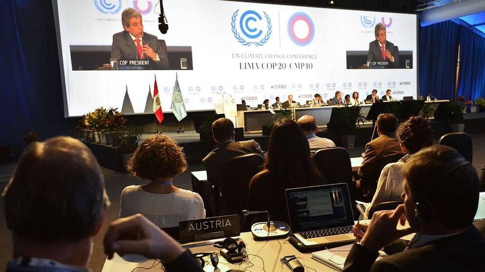 Delegater vid klimatmötet i Lima