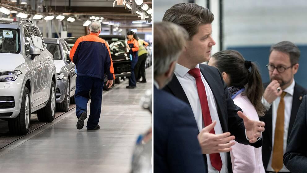Volvo-arbetare och Volvo-chefer