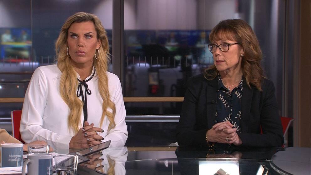 Boxningsprofilen Mikaela Laurén och överläkaren Anna Karin Lind diskuterar i Morgonstudion