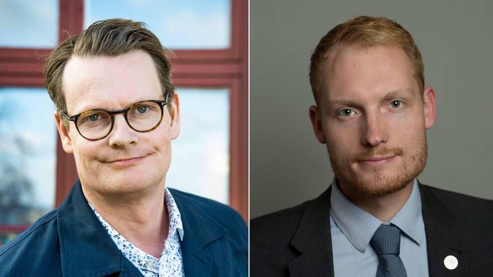 Per Schlingmann och Aron Emilsson i panel på Folk och kultur