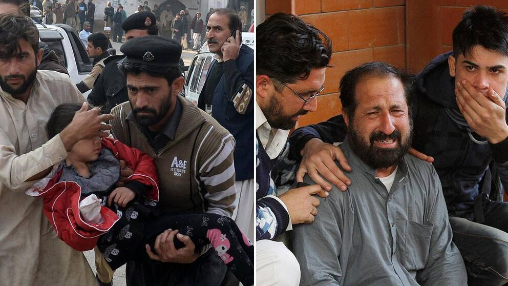 Över 100 personer dödades och ytterligare ett hundratal skadades när talibanerna på tisdagsmorgonen stormade en skola i Peshawar i Pakistan. Nu berättar vittnen och släktingar om det fruktansvärda dramat inne på skolan.