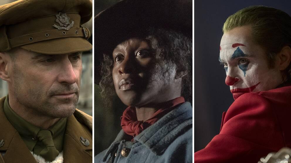 Mark Strong i 1917, Cynthia Erivo som Harriet Tubman och Joaquin Phoenix som Jokern.