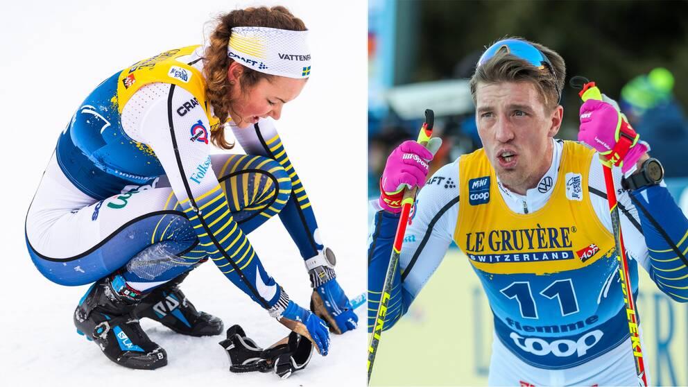Moa Lundgren och Calle Halfvarsson.