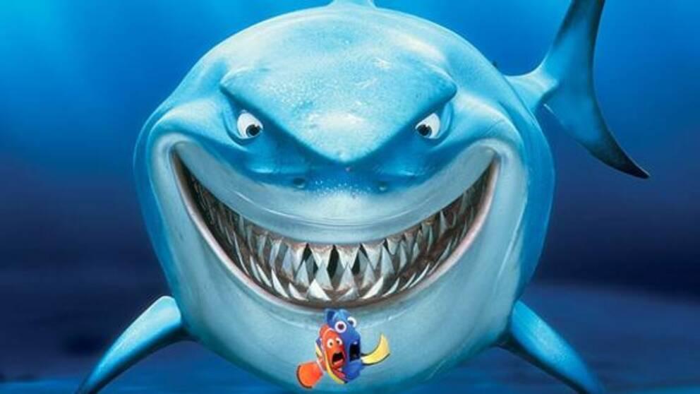 """""""Hitta Nemo"""" är ett exempel på en tecknad barnfilm med mordiska inslag."""