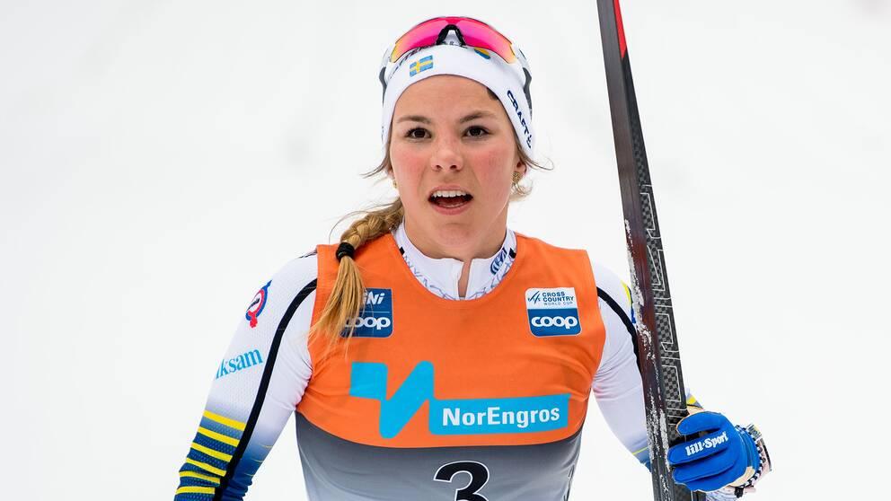 Johanna Hagström var snabbast i kvalet.