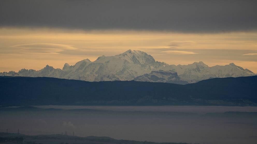 Mont Blanc i franska alperna.