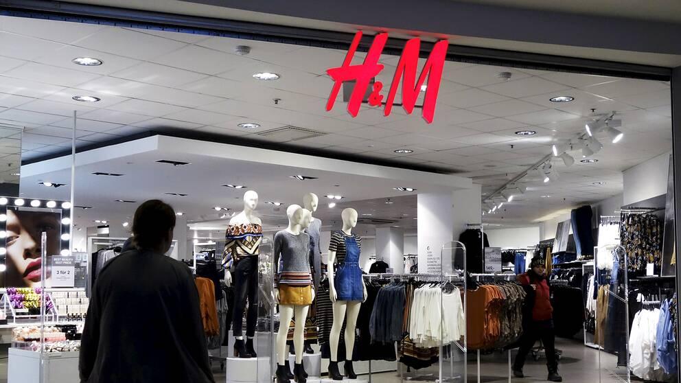 En H&M-butik i Stockholm.