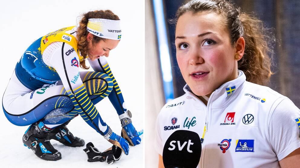 Moa Lundgren intervjuas av SVT.