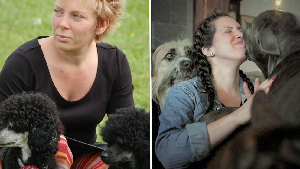 Hundinstruktör Jenny Afvander och hundbeteendespecialisten Alexandra Ortega.