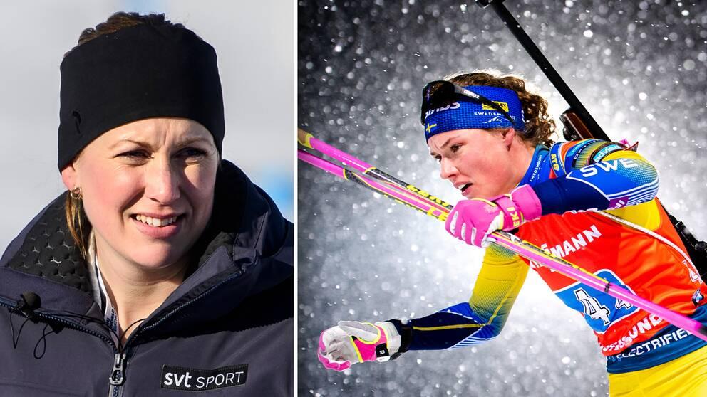 SVT:s expert Helena Ekholm och stjärnan Hanna Öberg.
