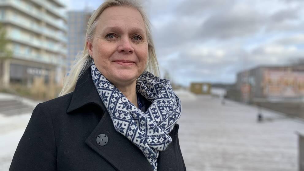 Nya stadsarkitekten Charlotte Köhler i Norrtälje hamn