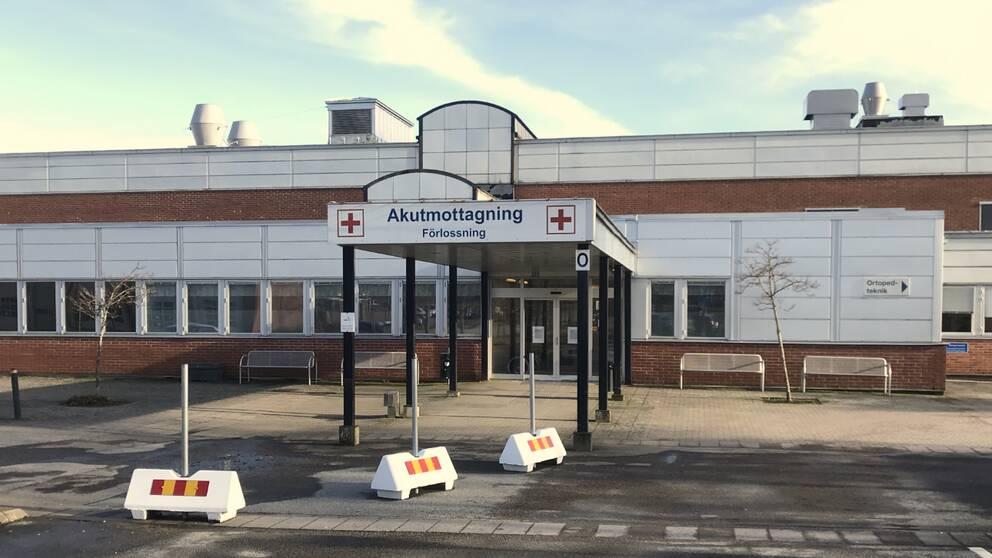 Akutmottagningen/förlossningen på Varbergs sjukhus.