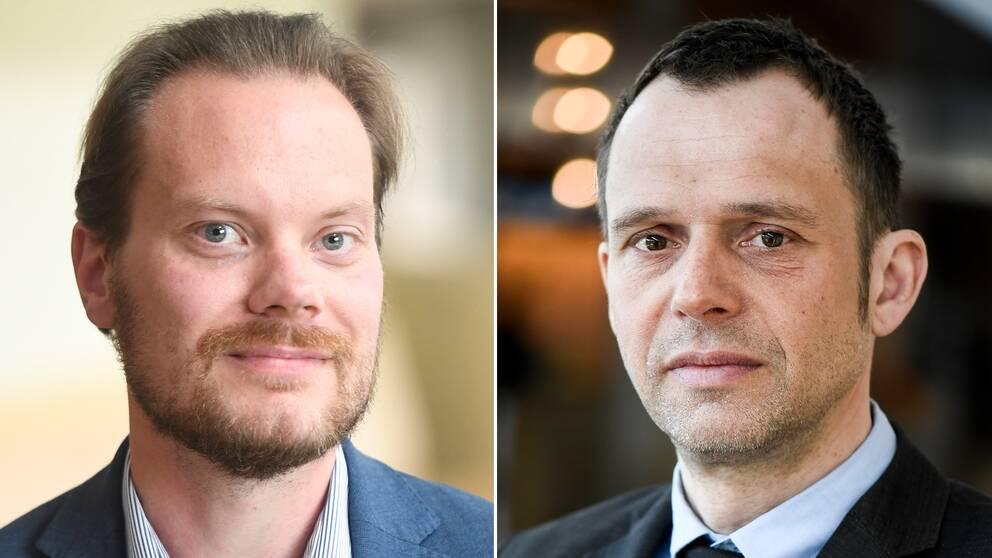 Martin Kinnunen (SD), miljöpolitisk talesperson och Jens Holm (V), miljöpolitisk talesperson.