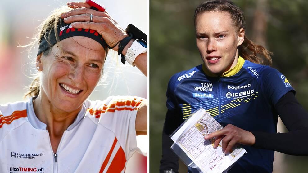 Simone Niggli (t.v) ska hjälpa Tove Alexandersson och de andra i svenska landslaget inför VM i Tjeckien 2021.