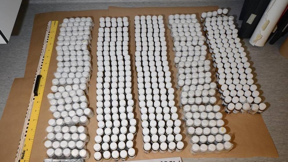 Beslag av narkotikaklassade läkemedel som gjorts under 2019.