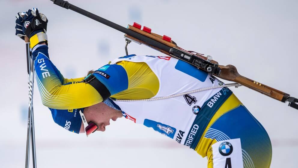 Sebastian Samuelsson fick en tuff start på skidskytte-VM.